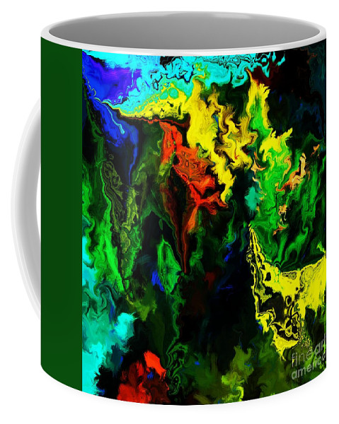 Abstract Coffee Mug featuring the digital art Abstract 2-23-09 by David Lane