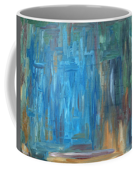 Abstract Coffee Mug featuring the painting Abstract 297 by Patrick J Murphy