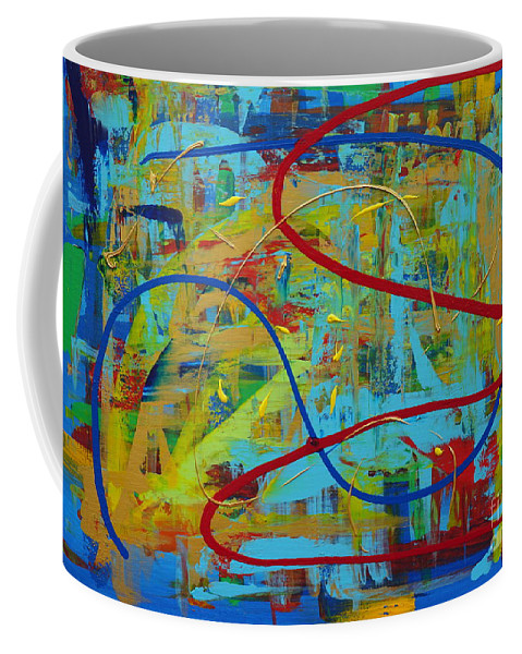 Abstract Coffee Mug featuring the painting Abstract 2_untitled by Jimmy Clark
