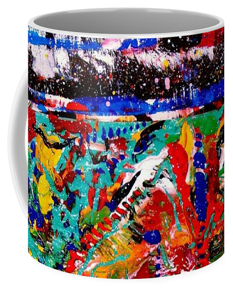 Abstract Coffee Mug featuring the painting Abstract 3 by Natalie Holland