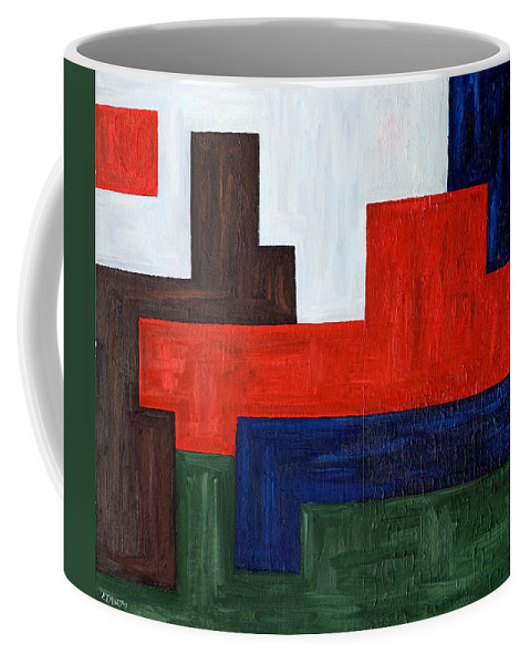 Abstract Coffee Mug featuring the painting Abstract 343 by Patrick J Murphy