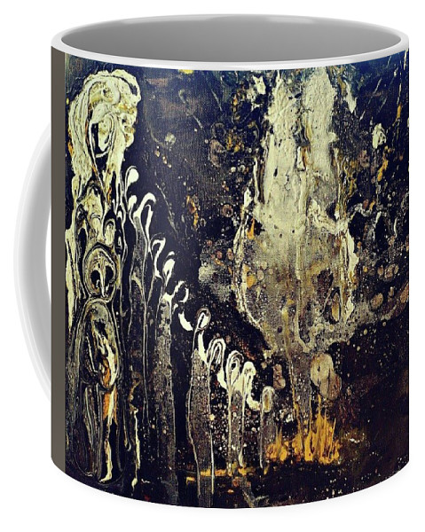 Abstract Coffee Mug featuring the painting Into The Ether by 'REA' Gallery