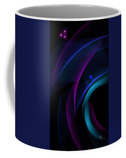 Blue Coffee Mug featuring the digital art Abstract 41 by John Wills