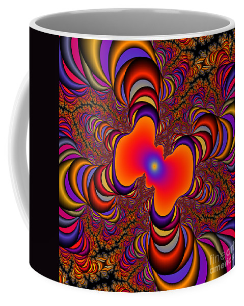 Abstract Coffee Mug featuring the digital art Abstract 41 by Rolf Bertram