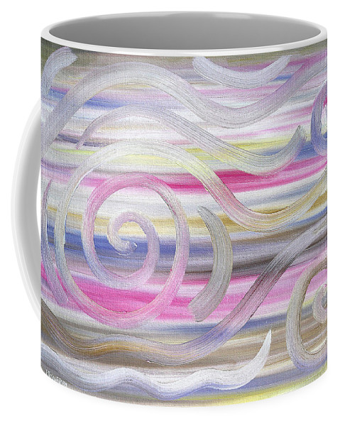 Abstract Coffee Mug featuring the painting Abstract 436 by Patrick J Murphy