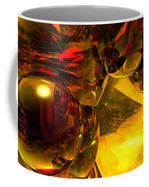 Abstract Coffee Mug featuring the digital art Abstract 5-21-09 by David Lane