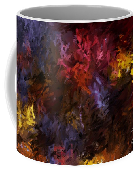 Abstract Coffee Mug featuring the digital art Abstract 5-23-09 by David Lane