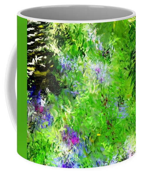 Abstract Coffee Mug featuring the digital art Abstract 5-26-09 by David Lane