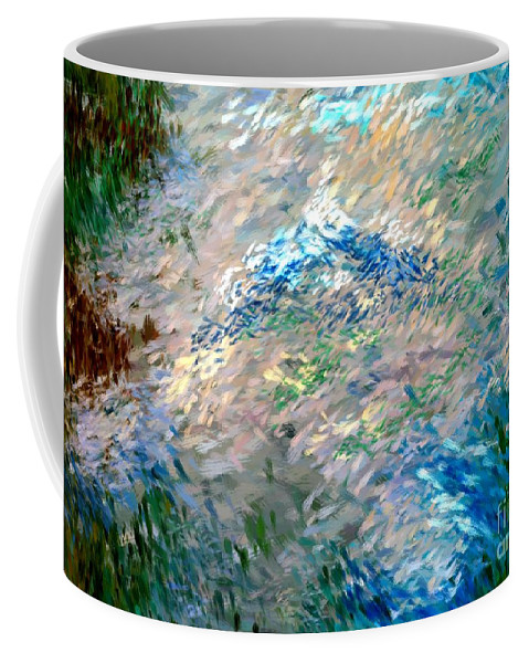 Abstract Coffee Mug featuring the digital art Abstract 6-03-09 A by David Lane