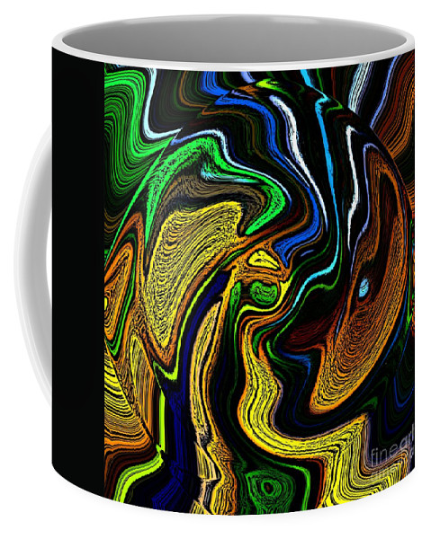 Abstract Coffee Mug featuring the digital art Abstract 6-10-09-a by David Lane