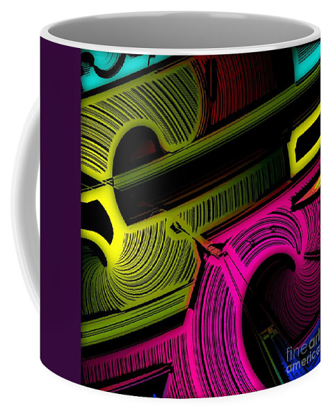 Abstract Coffee Mug featuring the digital art Abstract 6-21-09 by David Lane