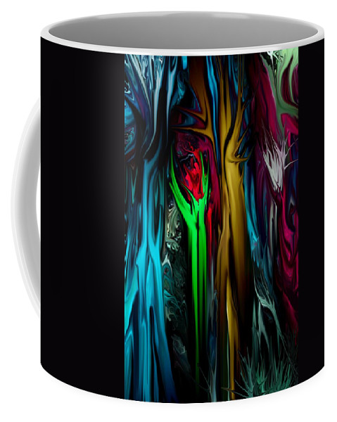 Abstract Coffee Mug featuring the digital art Abstract 7-09-09 by David Lane
