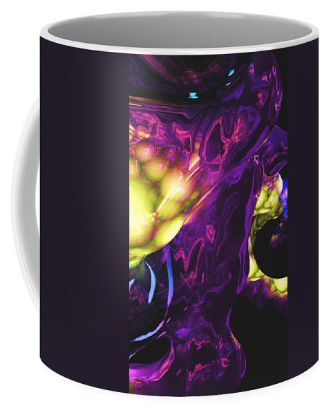 Abstract Coffee Mug featuring the digital art Abstract 7-25-09 by David Lane