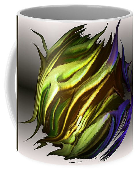 Abstract Coffee Mug featuring the digital art Abstract 7-26-09-a by David Lane