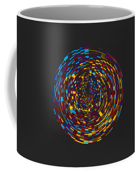 Abstract Coffee Mug featuring the digital art Abstract 814 by Kristalin Davis