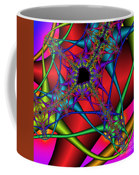 Abstract Coffee Mug featuring the digital art Abstract 82 by Rolf Bertram