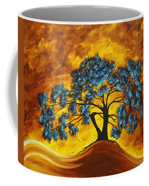 Abstract Coffee Mug featuring the painting Abstract Art Original Landscape Painting Dreaming In Color By Madartmadart by Megan Duncanson