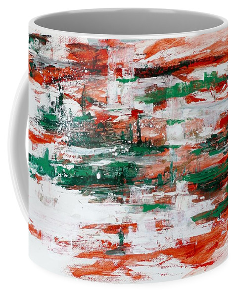 Art Coffee Mug featuring the painting Abstract Art Project #24 by Karina Plachetka