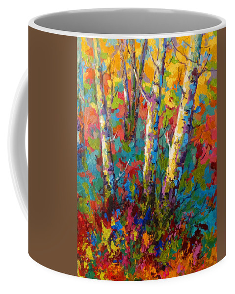 Trees Coffee Mug featuring the painting Abstract Autumn II by Marion Rose