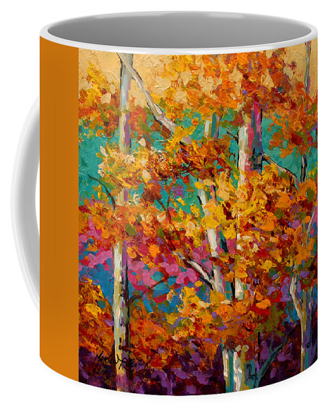 Trees Coffee Mug featuring the painting Abstract Autumn IIi by Marion Rose
