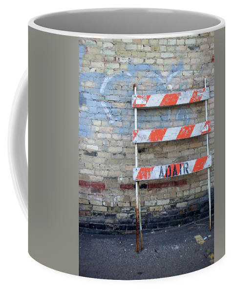 Industrial Coffee Mug featuring the photograph Abstract Brick 1 by Anita Burgermeister