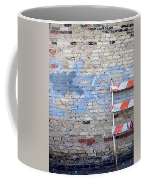 Industrial Coffee Mug featuring the photograph Abstract Brick 2 by Anita Burgermeister