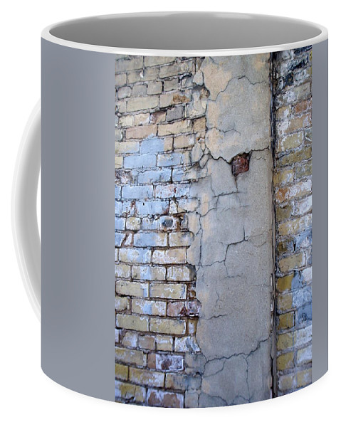 Industrial Coffee Mug featuring the photograph Abstract Brick 4 by Anita Burgermeister