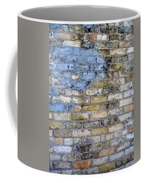 Industrial Coffee Mug featuring the photograph Abstract Brick 6 by Anita Burgermeister