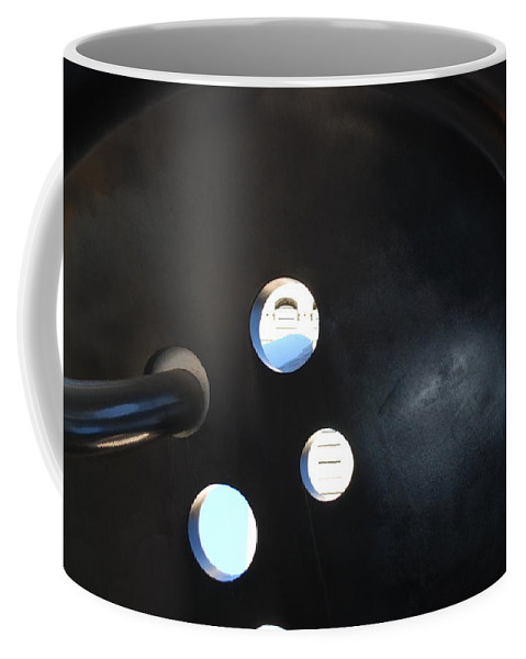 Button Coffee Mug featuring the photograph Abstract Button Holes by Rob Hans