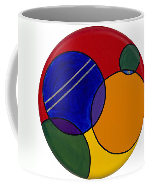 Circles Coffee Mug featuring the painting Abstract Circle 3 by Patty Vicknair