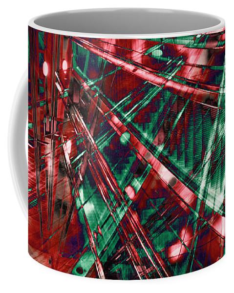 Red Berlin Sound Coffee Mug featuring the digital art Red Berlin Sound by Silva Wischeropp