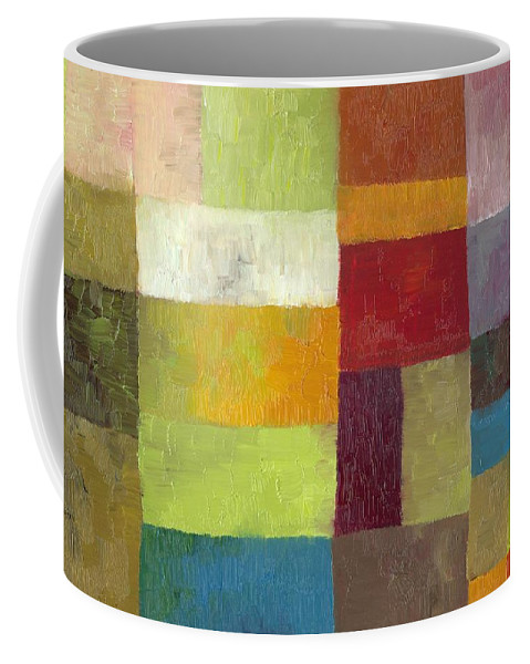 Abstract Coffee Mug featuring the painting Abstract Color Study Lv by Michelle Calkins