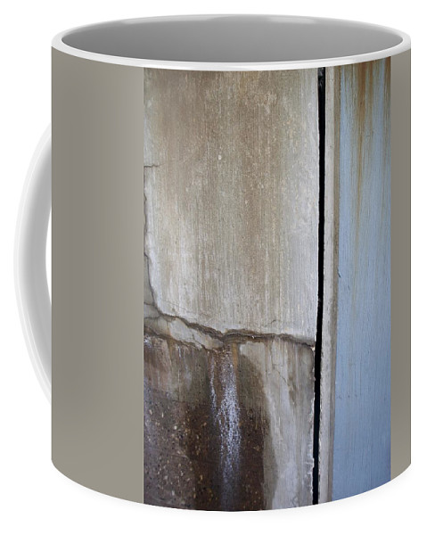 Industrial. Urban Coffee Mug featuring the photograph Abstract Concrete 1 by Anita Burgermeister