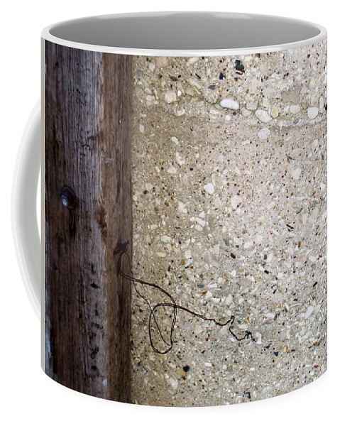 Industrial. Urban Coffee Mug featuring the photograph Abstract Concrete 12 by Anita Burgermeister