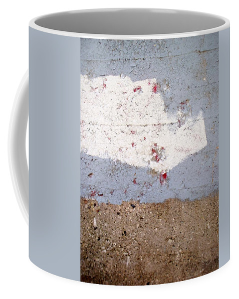 Industrial. Urban Coffee Mug featuring the photograph Abstract Concrete 13 by Anita Burgermeister