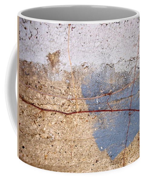 Industrial. Urban Coffee Mug featuring the photograph Abstract Concrete 15 by Anita Burgermeister