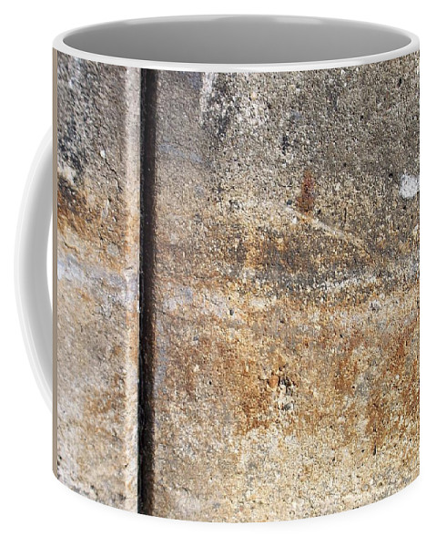 Industrial. Urban Coffee Mug featuring the photograph Abstract Concrete 17 by Anita Burgermeister