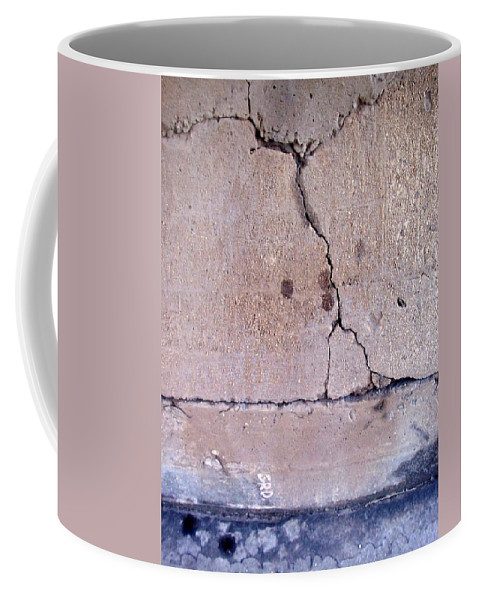 Industrial. Urban Coffee Mug featuring the photograph Abstract Concrete 3 by Anita Burgermeister