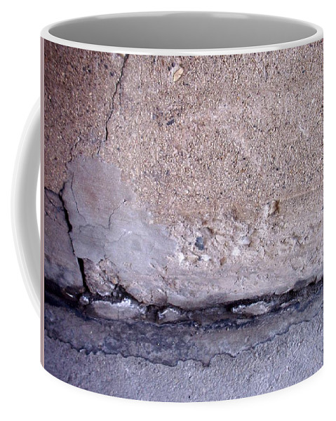 Industrial. Urban Coffee Mug featuring the photograph Abstract Concrete 4 by Anita Burgermeister