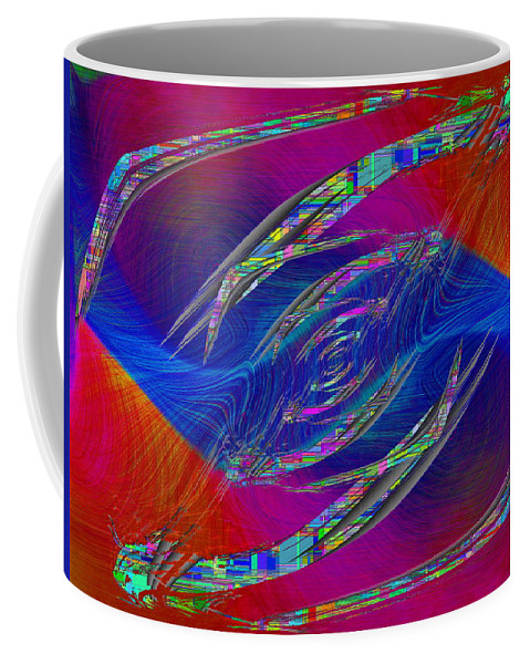 Abstract Coffee Mug featuring the digital art Abstract Cubed 323 by Tim Allen