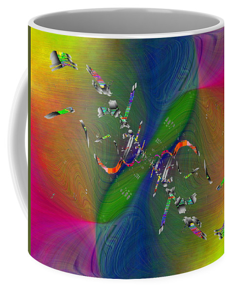 Abstract Coffee Mug featuring the digital art Abstract Cubed 356 by Tim Allen