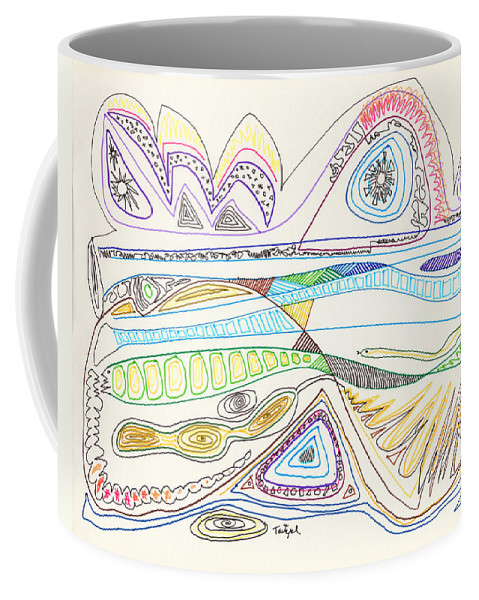 Abstract Coffee Mug featuring the drawing Abstract Drawing Seventeen by Lynne Taetzsch