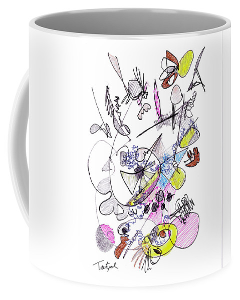 Abstract Art Coffee Mug featuring the drawing Abstract Drawing Seventy-two by Lynne Taetzsch