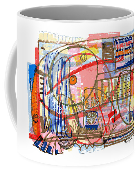 Abstract Coffee Mug featuring the drawing Abstract Drawing Sixty-eight by Lynne Taetzsch