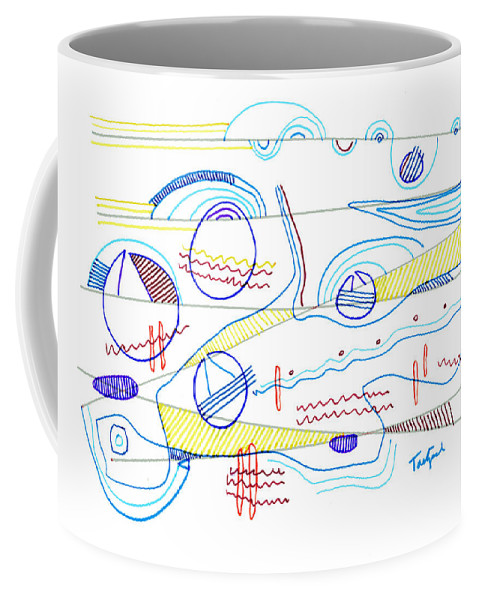 Abstract Coffee Mug featuring the drawing Abstract Drawing Sixty-three by Lynne Taetzsch