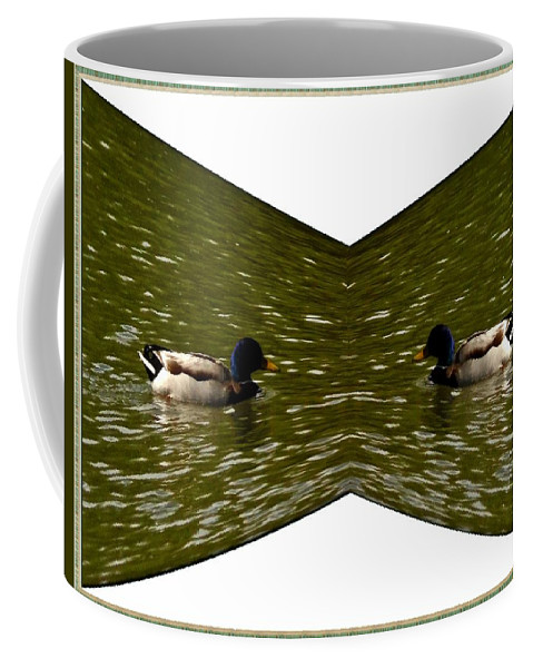 Ducks Coffee Mug featuring the photograph Abstract Ducks by Karl Rose