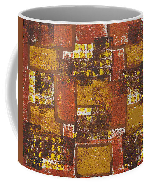 Acrylic Coffee Mug featuring the painting Abstract_ Fall by Jimmy Clark