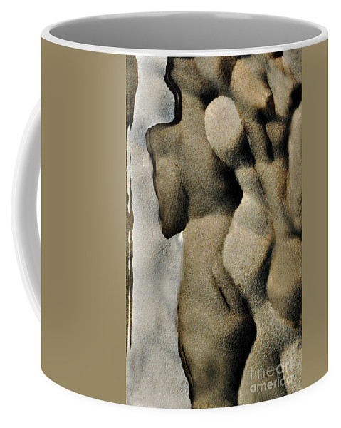 Abstract Coffee Mug featuring the photograph Abstract Female Figure In Grey by Hana Shalom