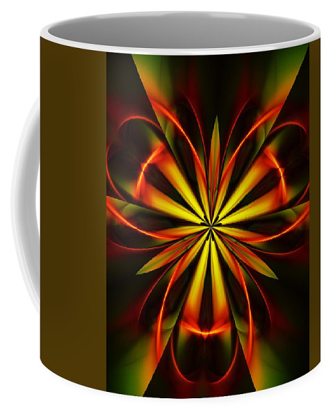 Fine Art Coffee Mug featuring the digital art Abstract Floral 032811 by David Lane