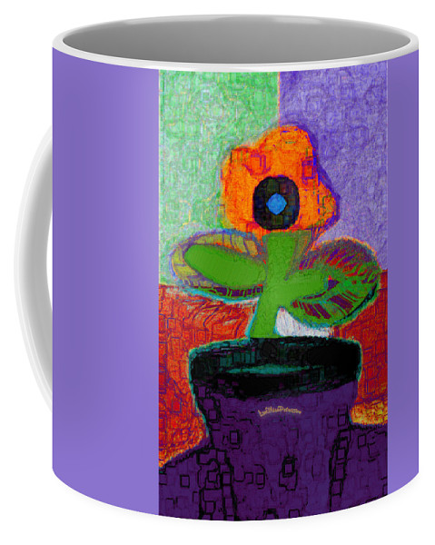 Posters Coffee Mug featuring the digital art Abstract Floral Art 114 by Miss Pet Sitter